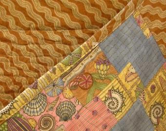 Ocean Waves, lap quilt, cot quilt, wall hanging heirloom.