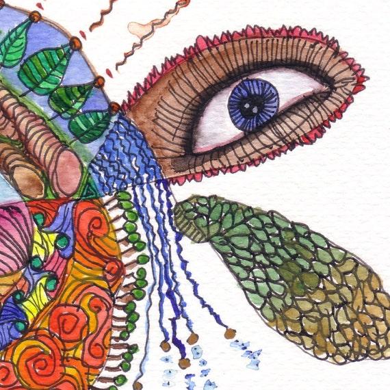Between the Eyes, original watercolour, by melanie j cook.