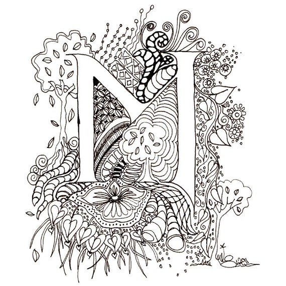 Illuminated letters coloring pages sketch coloring page for Illuminated alphabet coloring pages