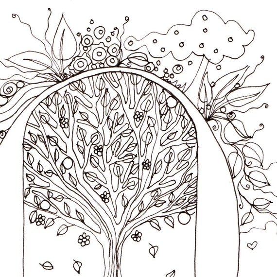 Monogram - O - Initial, Colour-Me-In Illuminated Letters, original art  drawings by melanie j cook