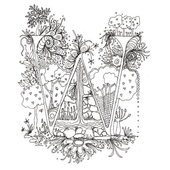 Fancy celtic letters coloring pages coloring pages for Illuminated alphabet coloring pages