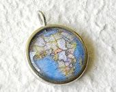 World Traveler Map Necklace - Africa