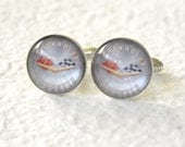 Vintage Chevrolet Corvette Logo Men's Cufflink Set - Great Fathers Day gift for dad