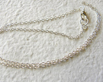 CHAIN UPGRADE -  Dainty 2mm STERLING Silver Cable Chain Choose Your Length