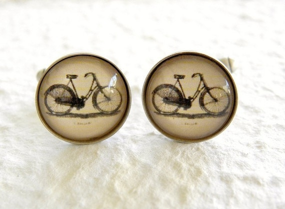 Antique Bicycle Men's Cufflinks Great Father's Day gift for Dad