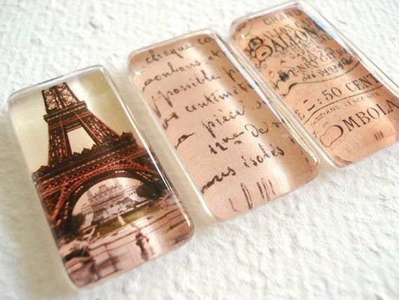 Aaahhh, Paris Magnet or Push Pin Set 2