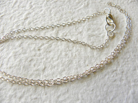 Add A Chain - 20'' Dainty 2MM Silver Plated Cable Chain
