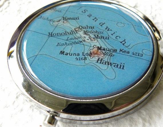 World Traveler Map Compact Mirror -  Hawaii, USA