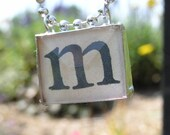 ANY LETTER INITIAL BUTTON CHARM