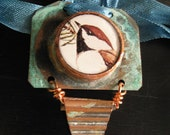 SWEET BIRD ON COPPER NECKLACE
