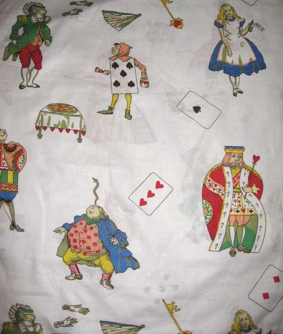 Vintage Alice In Wonderland Fabric 121