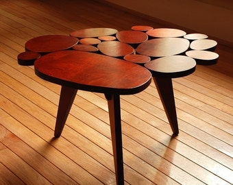 Modern Coffee Table with Organic Circles