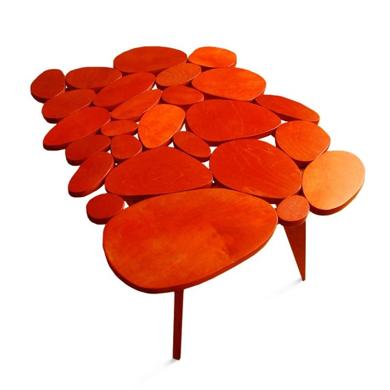 orange circles coffee table
