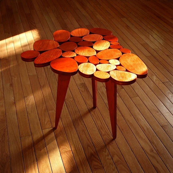 Small Orange Circles Coffee Table