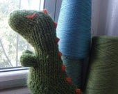Destructo the Dinosaur-knitted toy pattern PDF