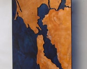 Custom Copper Map Art of your Location, 8 inch