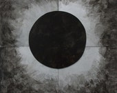 Eclipse etched metal artwork
