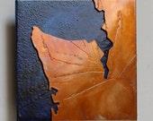 Seattle Washington Copper Map Art 4 inch