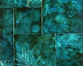 Pojagi, Blue -- LARGE etched metal artwork
