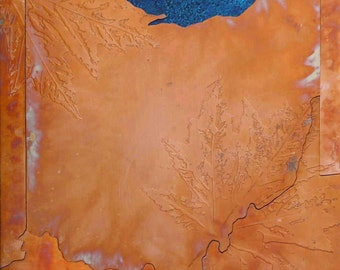 Copper Map Art of Ohio, 8 in