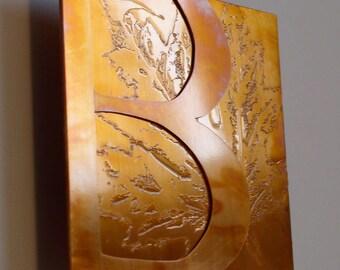Custom Copper Art Letter, 5 inch