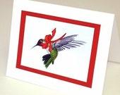 Christmas card - Hummingbird