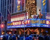 5x7 New York City Radio City Music Hall at Christmas - Original Digital Matte Photograph
