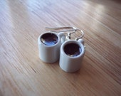 Coffee Cup Earrings - Smells like Coffee YUM
