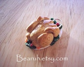 Miniature Turkey Necklace\/charm Clay Jewelry
