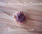 Scented Pecan Pie Necklace\/charm Clay Miniature Jewelry