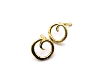 Circle of Life Stud Earrings- Choose Your Finish