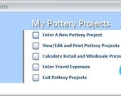 My Pottery Projects Software