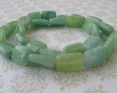 Minty Green Rectangle Beads