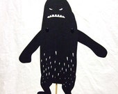 Yeti shadow puppet