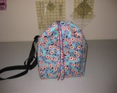 Fiber and Spindle Bag - White Cherry Blossoms