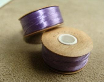 Lavender Nymo Thread, size D, 2 Spools, 64 Yards each