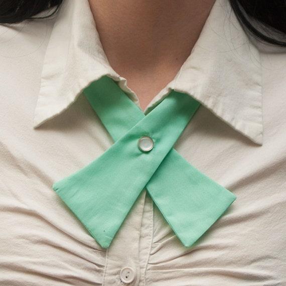 SALE Womens Neck Tie - Mint Green