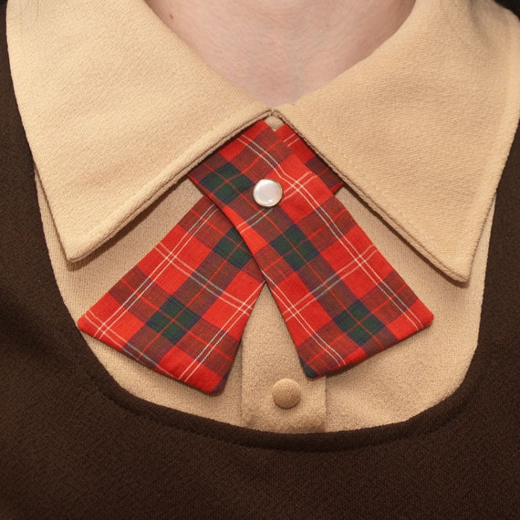 Womens Neck Tie - Red Plaid
