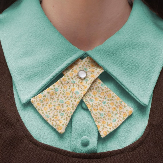 Womens Neck Tie - Pastel Floral - LAST ONE