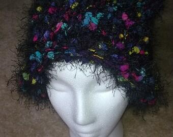 black/purple confetti hat