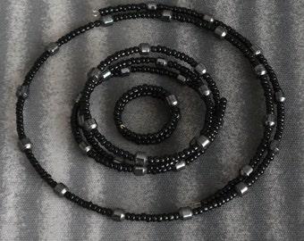 Hematite beaded memory wire trio