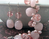Pink Stone or bead Earrings for Me