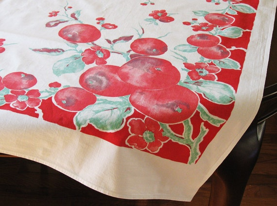 Vintage Apples Tablecloth