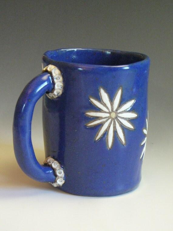 Coffee Mug - Daisy Blue Java Mug - Tea Cup