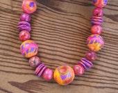 RESERVED FOR ULRIKE Harlequin Necklace