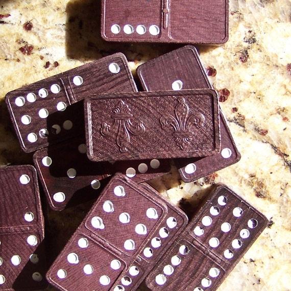 15 Vintage Wooden dominos