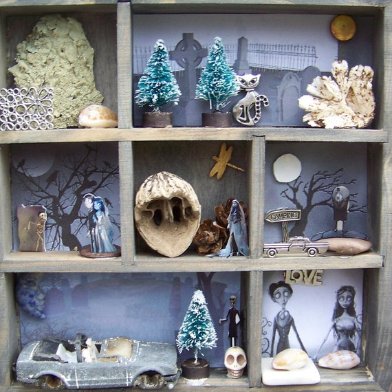 Lost Love - Wood Shadow Box - Mixed Media - Assemblage