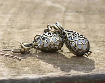 Recycled Vintage Pond's Cold Cream Bottle Earrings
