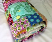 Scrappy Handmade Patchwork Lap Quilt Amy Butler Medley ON SALE