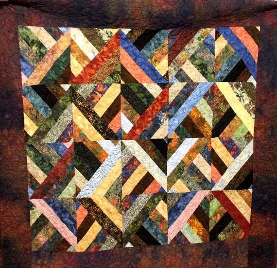 Quiltlovers Batik Strip Lap Quilt 49 X 57 By Quiltloverquilts